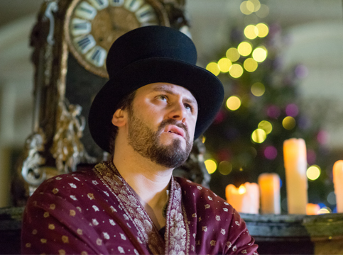 Ben as Scrooge in A Christmas Carol at Sudbury Hall