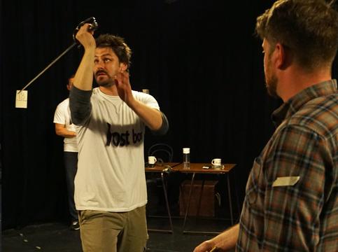 Combat workshop - Ben with sword